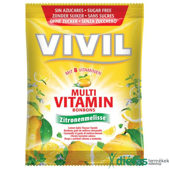 Vivil multivitamin lemon hozzáadott cukormentes cukorka 60 g