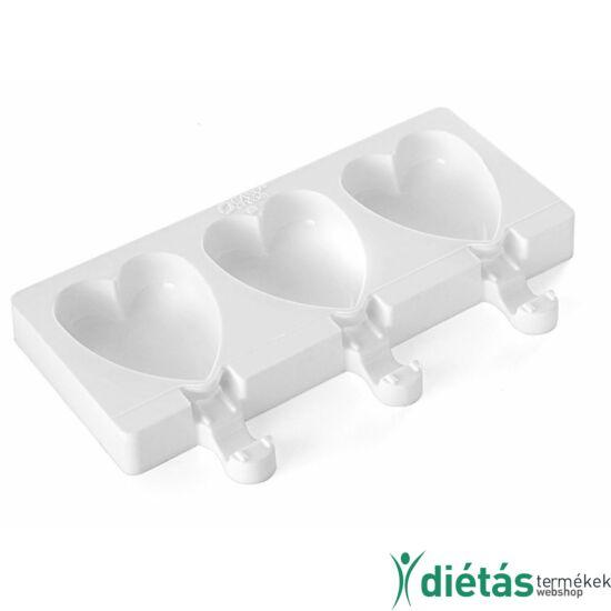 Silikomart mini jégkrém készítő forma szív alakú, 3db-os, szilikon