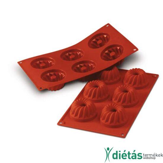 Silikomaart mini kuglóf forma szilikon 6db-os