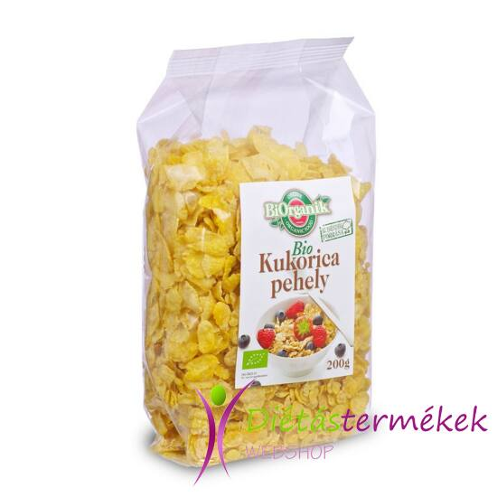 BIO Kukoricapehely HOZZÁADOTT CUKORMENTES 200 g