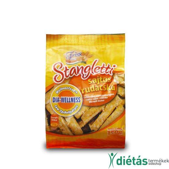 Dia-Wellness Stangletti csökkentett szénhidráttartalmú sajtos rudacskák 150 g