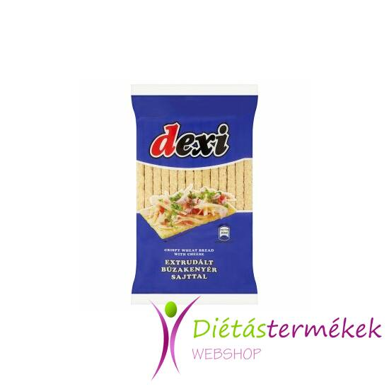 Dexi extrudált búzakenyér sajttal tojásmentes) (125 g)