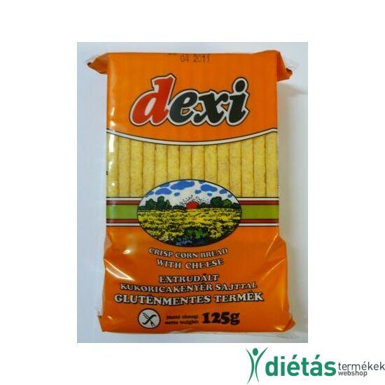 Dexi extrudált kukoricakenyér sajttal (gluténmentes, tojásmentes) 125 g