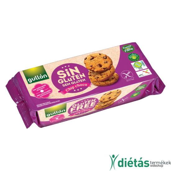 Gullon Chip Choco gluténmentes vegán keksz (hozzáadott cukormentes) 130 g