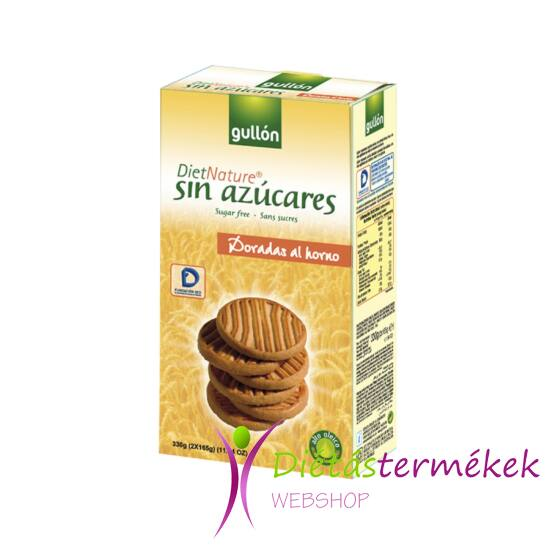 Gullon Dorada diet nature keksz (hozzáadott cukormentes) 330 g