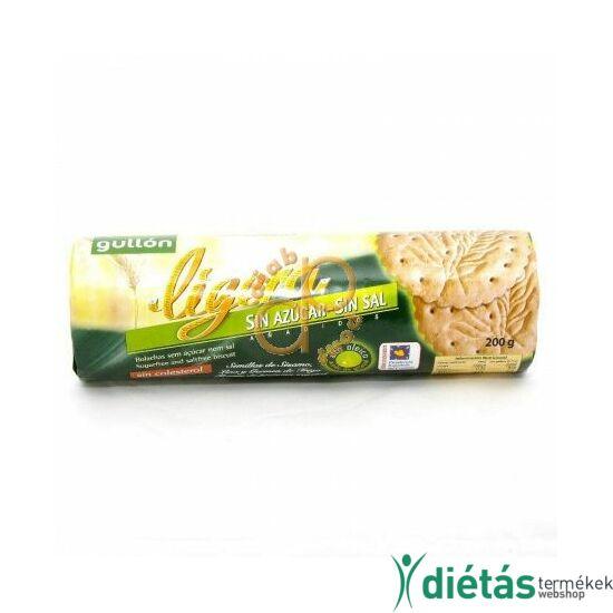 Gullon Ligera NATÚR keksz (hozzáadott cukormentes) 200 g