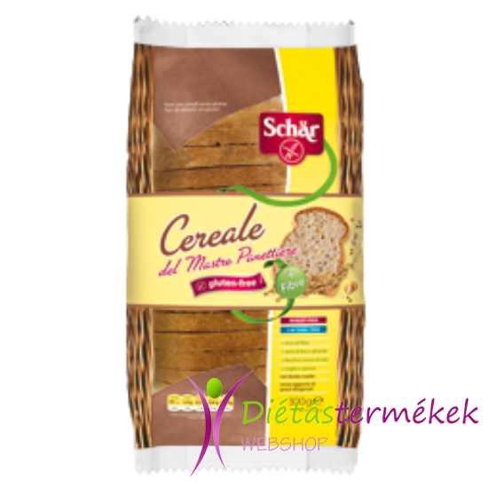 Schär Cereal szeletelt többmagvas kenyér (Tej-, tojás-, gluténmentes) 300 g