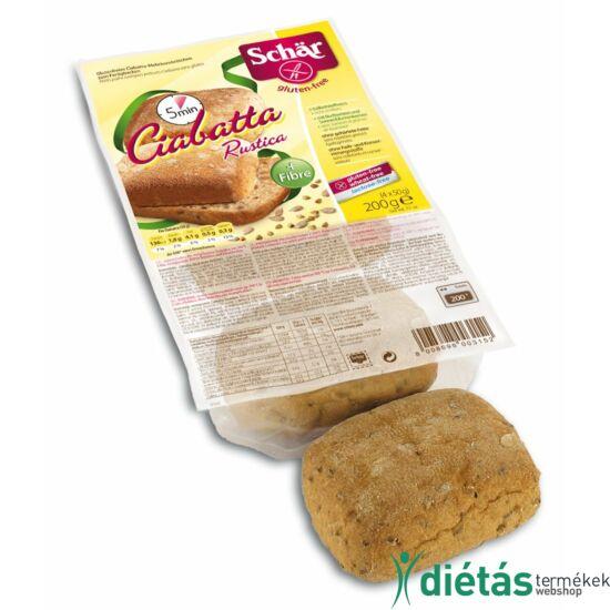 Schär Ciabatta többmagvas elősütött zsemlék (glutén-, tej-, tojásmentes) 200g
