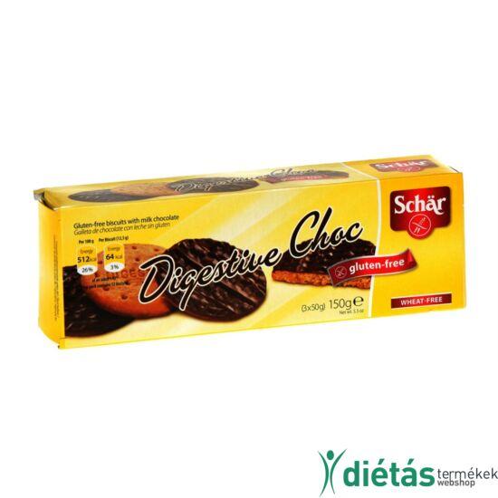 Schär Digestive Choc keksz tejcsokoládéval (gluténmentes, tojásmentes) 150 g