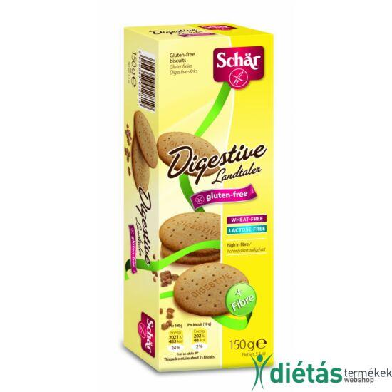 Schär Digestive keksz (gluténmentes, tojásmentes, tejmentes) 150g