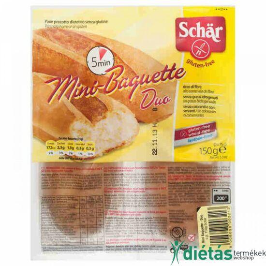 Schär Mini Bagett Duo (gluténmentes, tejmentes, tojásmentes) 150 g
