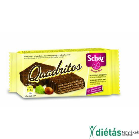 Schär Quadritos gluténmentes étcsokoládéval bevont kakaós ostya 40 g