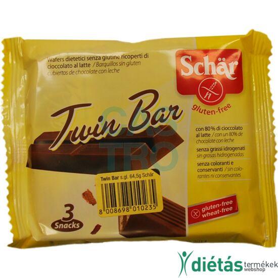 Schär Twin Bar - gluténmentes tejcsokoládéval bevont ropogós ostya 64,5 g