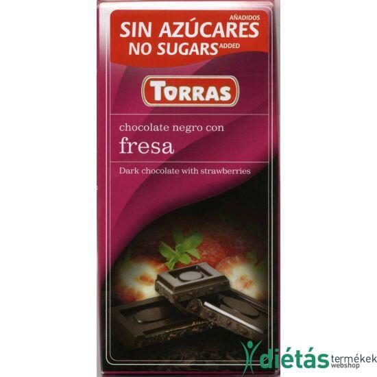 Torras Epres étcsokoládé hozzáadott cukor nélkül 75 g
