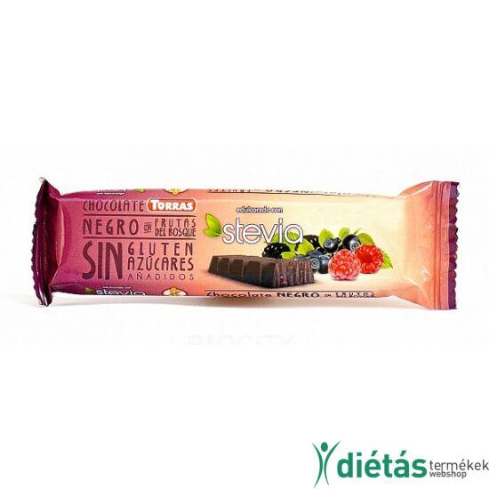 Torras Stevia Erdei Gyümölcsös étcsokoládé (gluténmentes, tejmentes) 35 g
