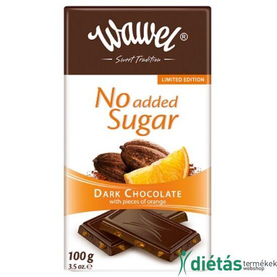 Wawel hozzáadott cukormentes narancsos étcsokoládé  100 g