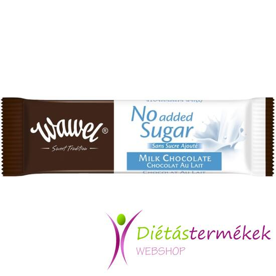 Wawel hozzáadott cukormentes tejcsokoládé 30g