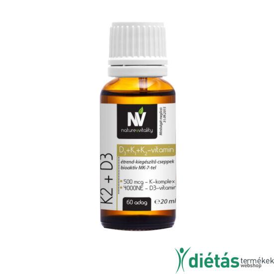 K2 + D3 Vitamin csepp 20ml