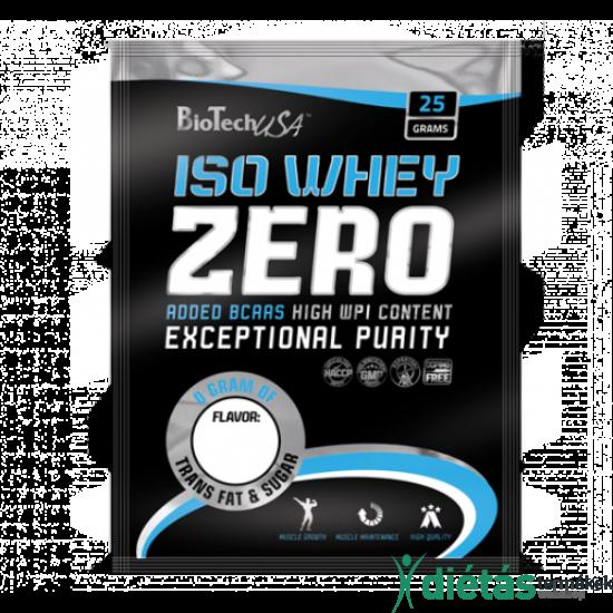 Biotech USA ISO Whey Zero laktózmentes fehérjepor (Eper) 25 G