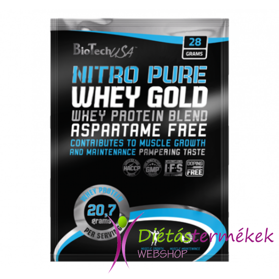 Biotech USA Nitro Pure Whey fehérjepor (Tejszínes banánkrém) 28 g