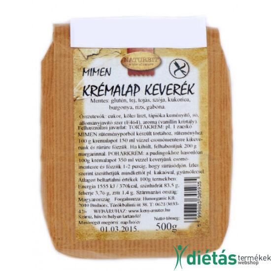 Naturbit Mimen gluténmentes krémalap keverék (MINDENMENTES) 500 g