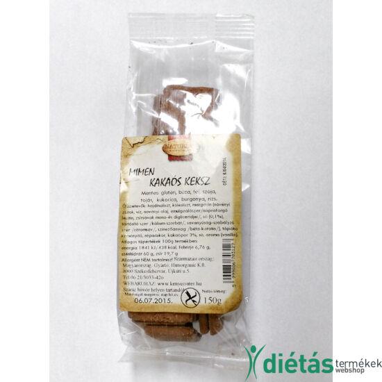 Naturbit Mimen kakaós gluténmentes keksz (MINDENMENTES) 150 g
