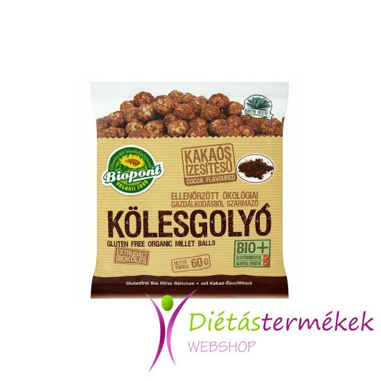 Biopont Bio kölesgolyó kakaós (gluténmentes) 60 g