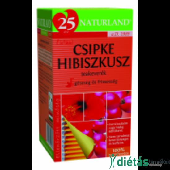 Naturland csipke- hibiszkusz tea 20 filteres