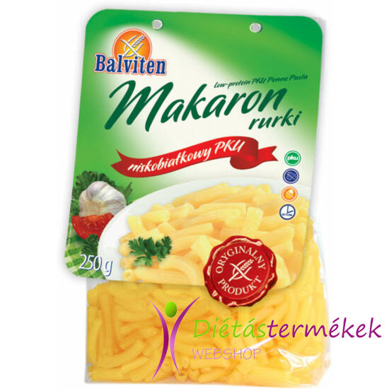 Balviten PKU csőtészta (gluténmentes, tejmentes, tojásmentes) 250 g