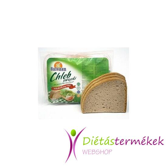 Balviten PKU házi kenyér (gluténmentes, tejmentes, tojásmentes) 300 g