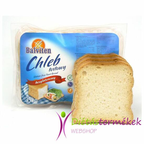 Balviten toast kenyér (gluténmentes, tojásmentes, tejmentes) 350 g