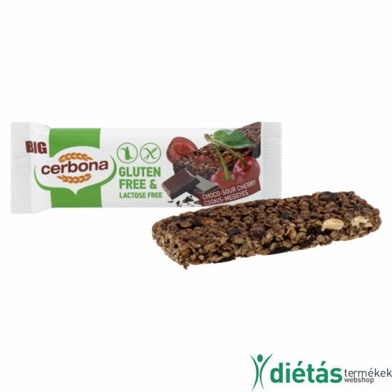 Cerbona gluténmentes szelet meggyes-csokis 35 g