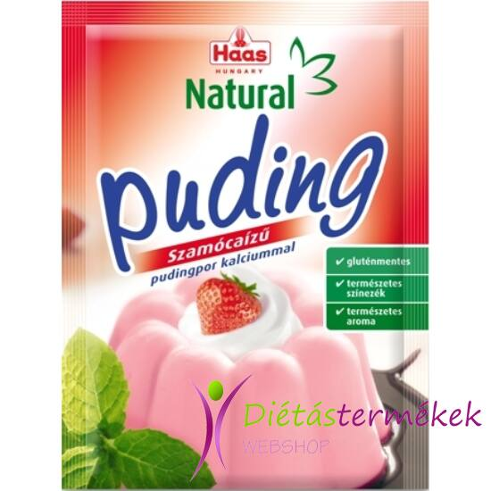 Haas gluténmentes pudingpor szamóca 40 g