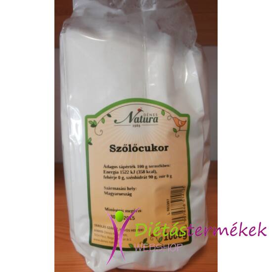 Natura szőlőcukor (glukóz-dextróz) 1 kg