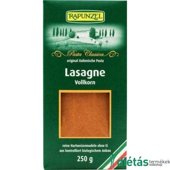 Rapunzel Bio lasagne  teljes kiőrlésű (tojásmentes, vegán) 250 g