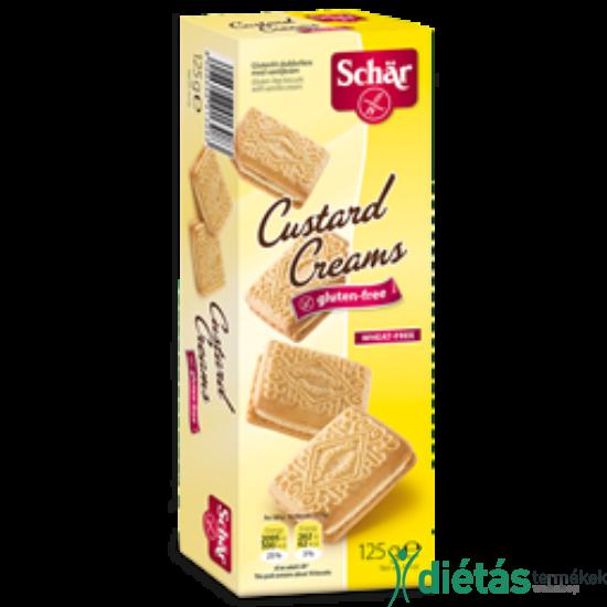 Schär Custard Cream vanília ízesítésű krémmel töltött keksz 125 g