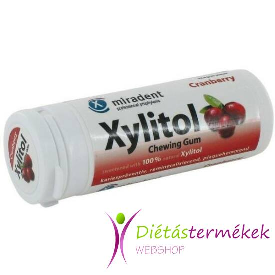 Xylitol rágógumi Vörös áfonya 30 db