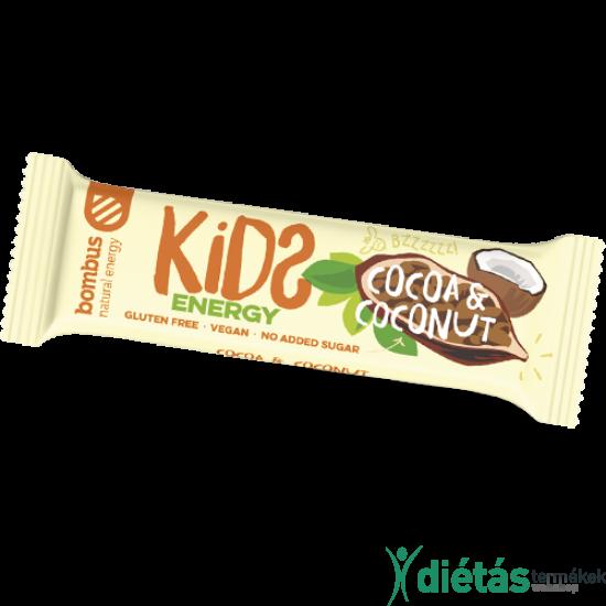 Bombus KIDS nyers szelet kakaó-kókusz 40 g