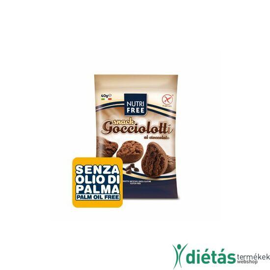 Nutri Free gocciolotti csokis snack keksz 40g