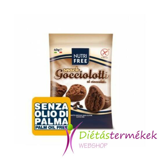 Nutri free gocciolotti snack keksz 40g