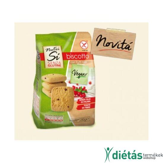Nutri free biscotto keksz erdei gyümölcsös 250g
