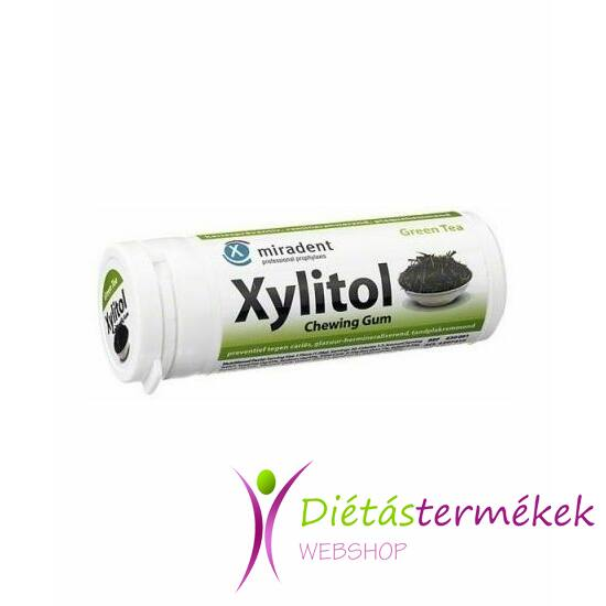 Xylitol rágógumi Zöld Tea 30 db
