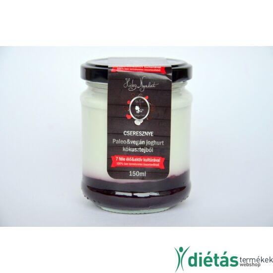 Hideg nyalat cseresznye joghurt (paleo, vegán, gluténmentes, tejmentes) 150 ml kicsi