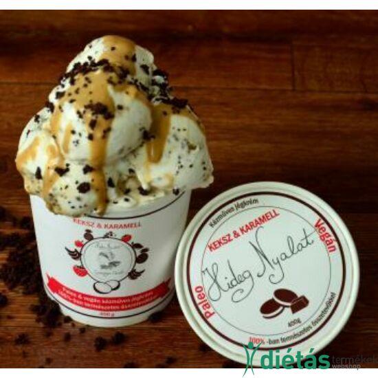 Hideg nyalat Keksz-karamell jégkrém (paleo, vegán, gluténmetes, tejmentes) 150ml