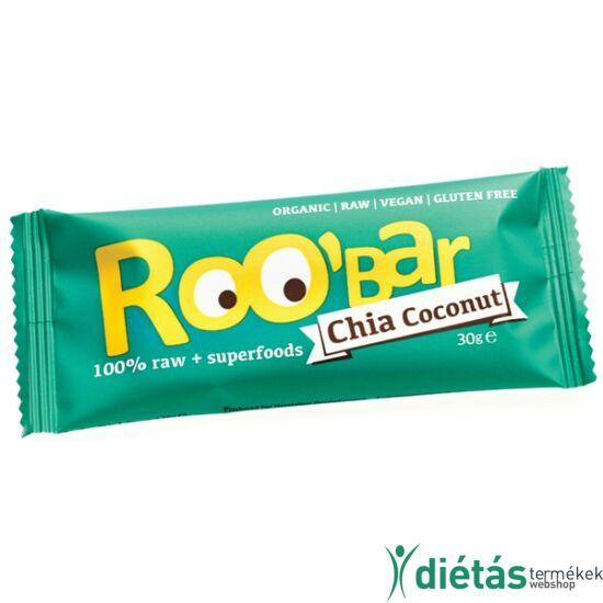 Roobar Bio gyümölcs szelet chia-kókusz (paleo, vegán, gluténmentes) 30 g