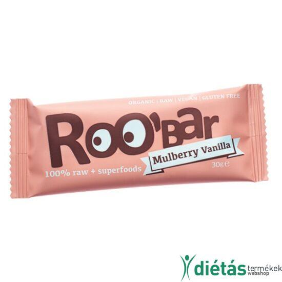 Roobar Bio gyümölcs szelet eper-vanília (paleo, vegán, gluténmentes) 30 g