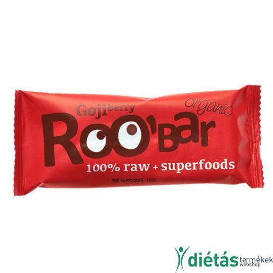 Roobar Bio gyümölcsszelet goji berry (paleo, vegán, gluténmentes) 30 g