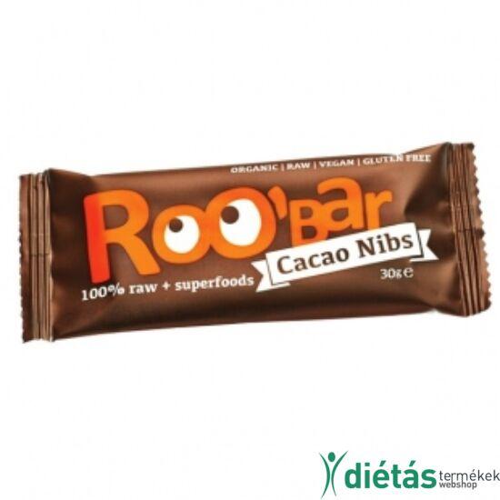 Roobar Bio gyümölcsszelet mandula-kakaó (paleo, vegán, gluténmentes) 30 g