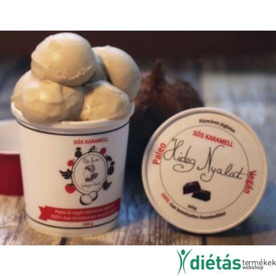 Hideg nyalat Sós karamell jégkrém (paleo, vegán, gluténmentes, tejmentes) 1000ml nagy