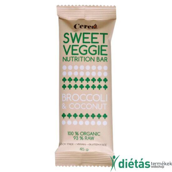 Sweetveggie nyers vegán gluténmentes szelet brokkoli-kókusz (paleo) 45 g